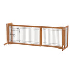 freestanding and pressure mounted dog gate