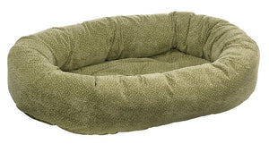 green apple donut dog bed