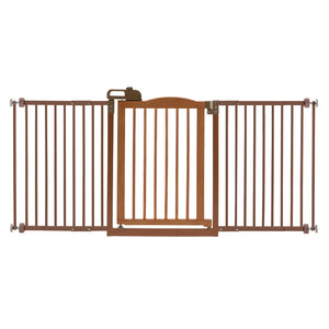 pressure mounted dog gate with door