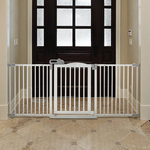 Easy open wide dog gate pressure mounted