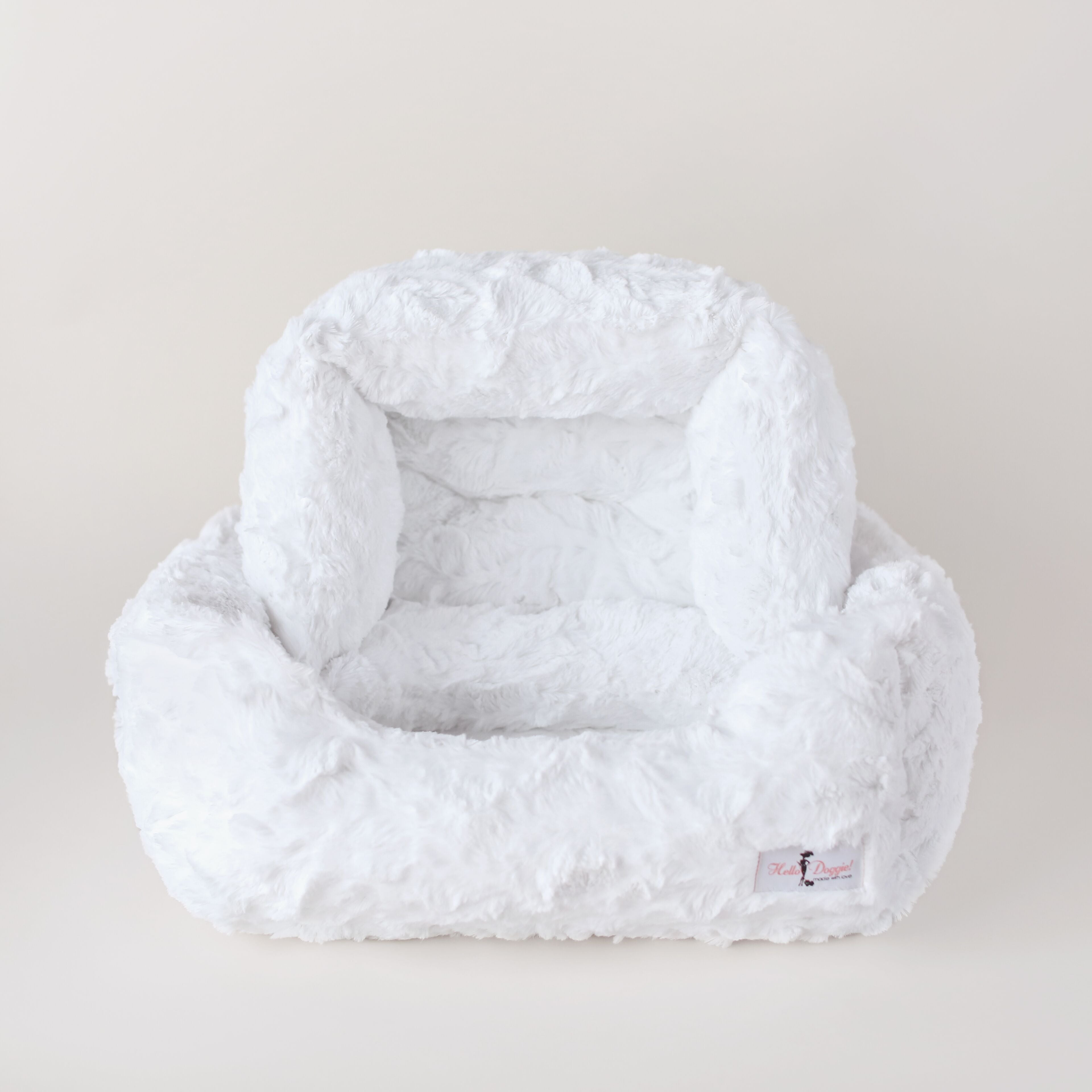 luxury soft dog bed white heaven color