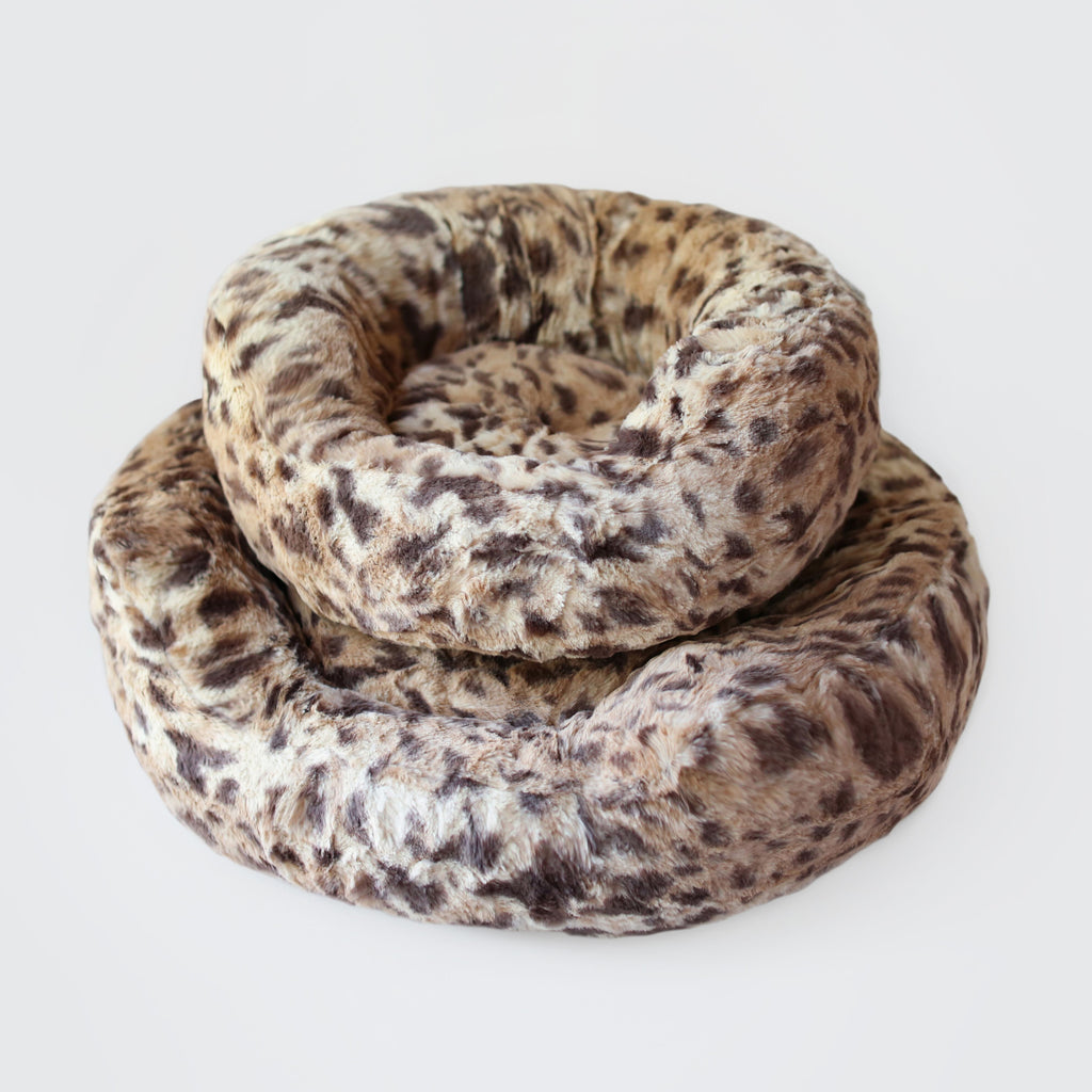 king leopard print dog bed