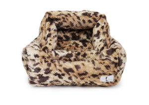 king leopard luxury dog bed for small breeds