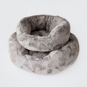 luxury small dog breed bed taupe