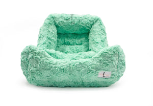 luxury soft dog bed mint color