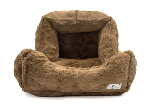 luxury soft dog bed mocha color