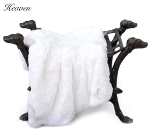 luxury dog blanket white color