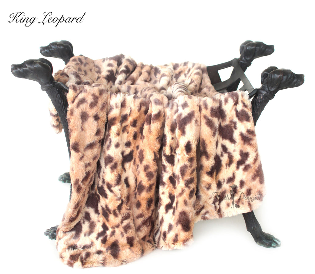 king leopard luxury dog blanket