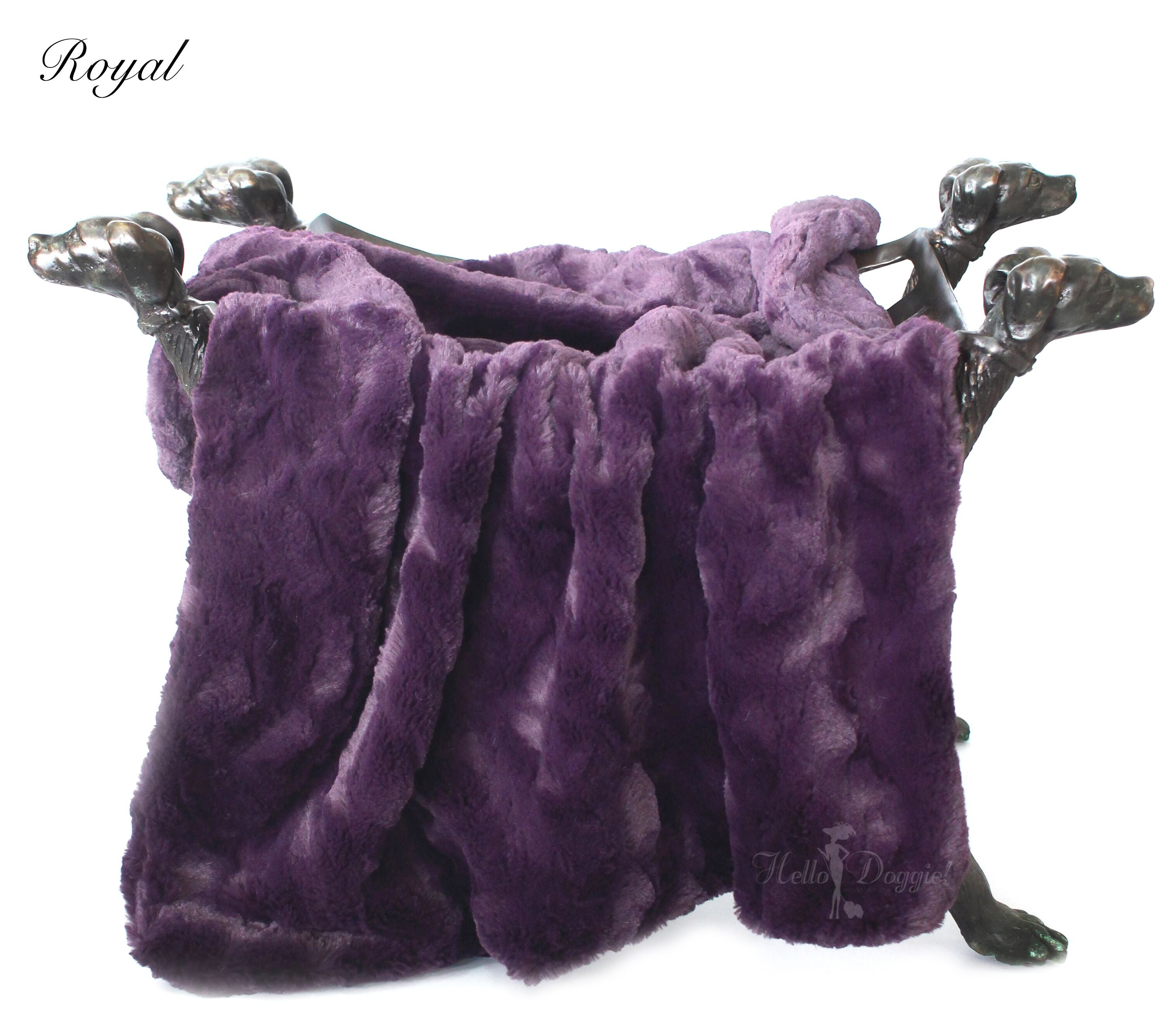 luxury dog blanket purple color