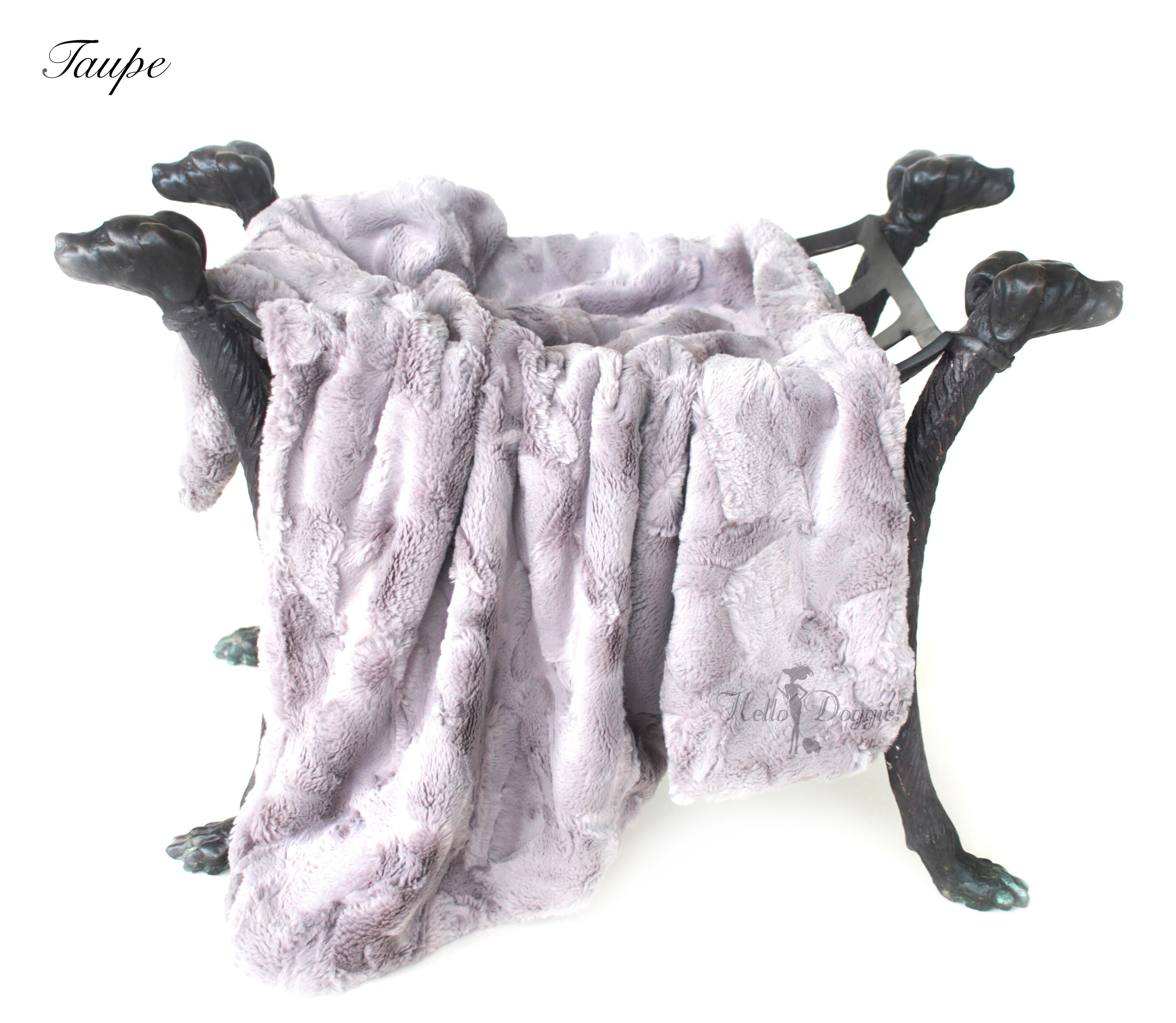 luxury dog blanket taupe color