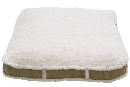 tan luxury rectangle dog bed