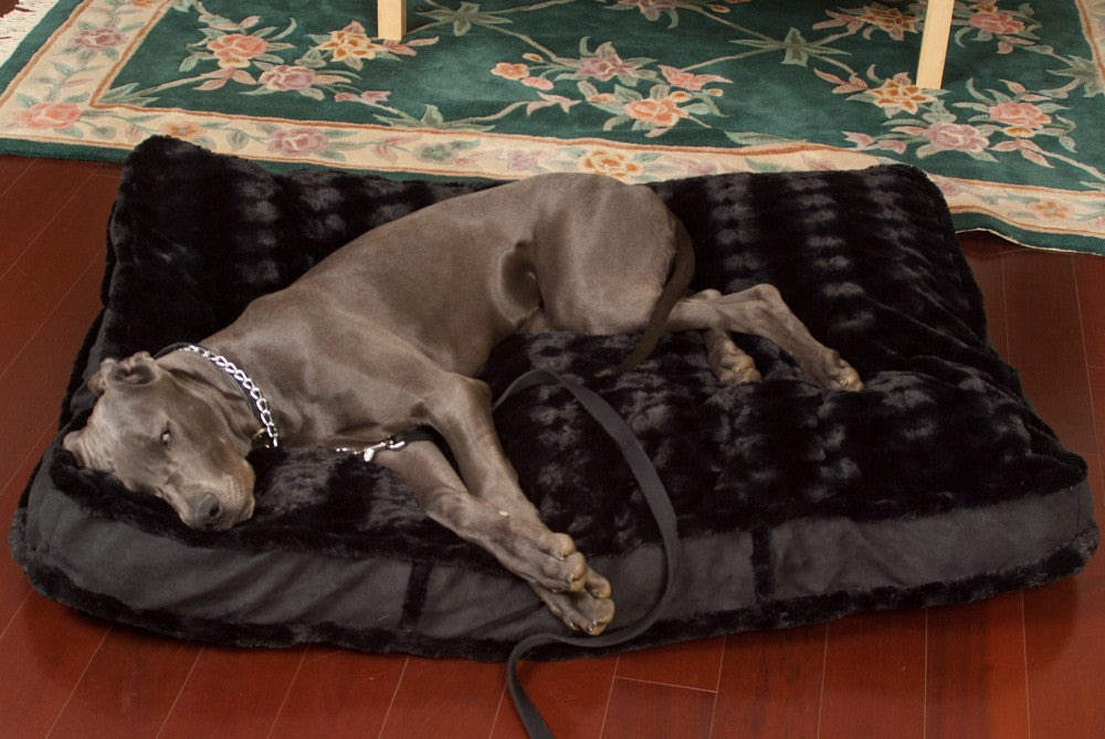 luxury rectangle dog bed
