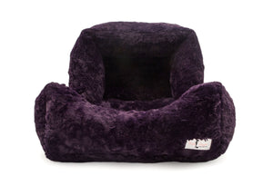 luxury soft dog bed purple color