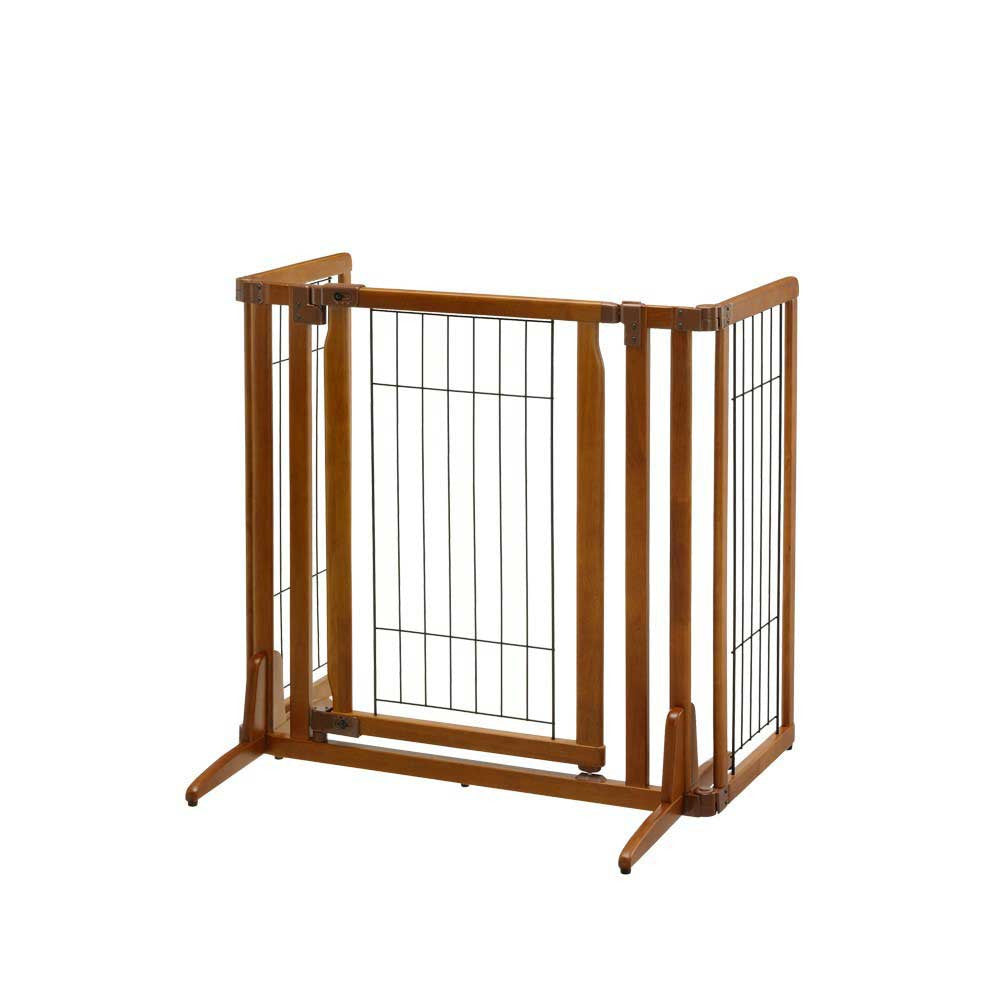 Richell USA Wide Premium Freestanding Dog Gate with sides folded in