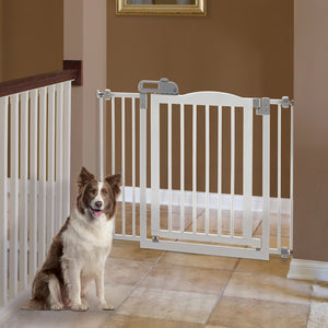 Hardwood One-Touch Pet Gate II