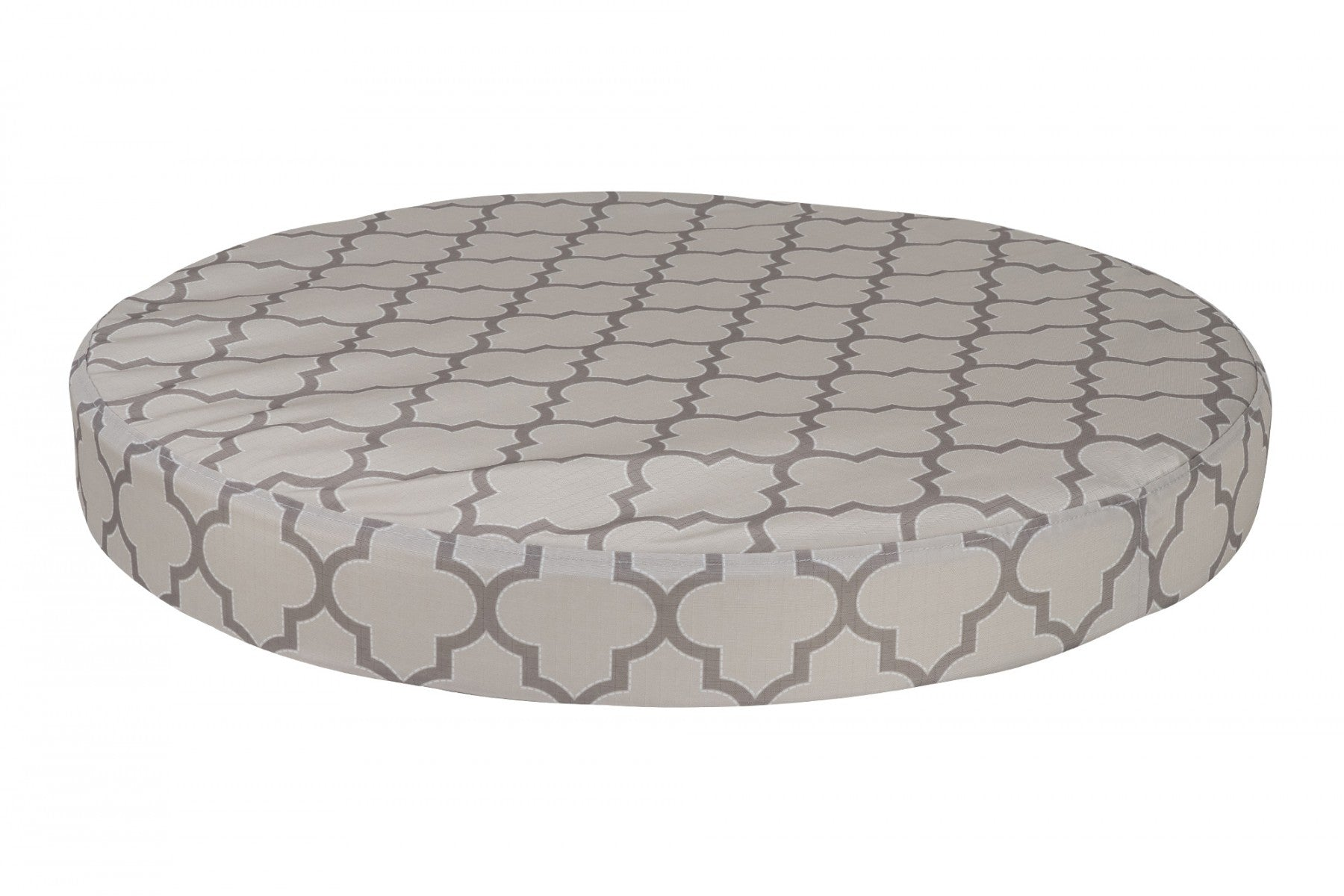 chew-resistant orthopedic round dog bed lattice