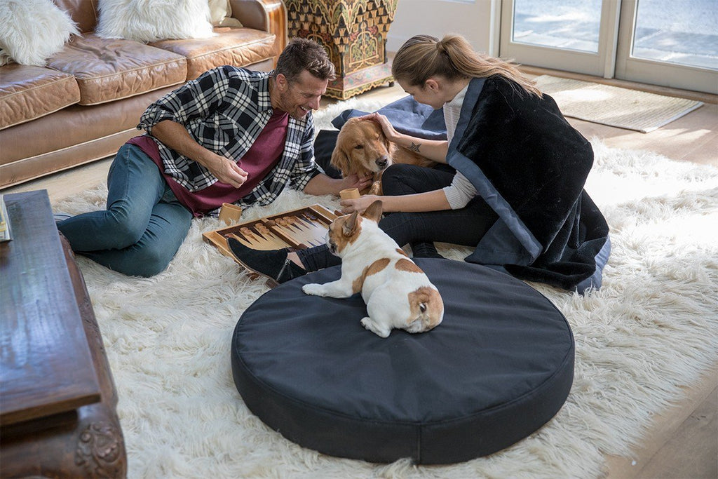 chew-resistant orthopedic round dog bed