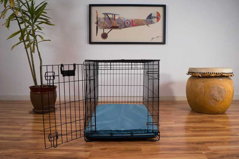 dog crate bed chew-resistant