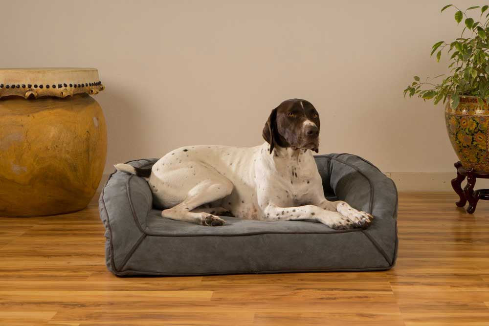 Orthopedic Microfiber Bolster Dog Bed