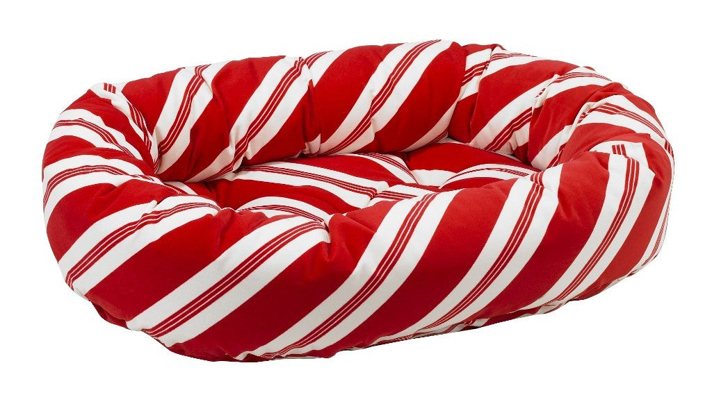 peppermint donut dog bed