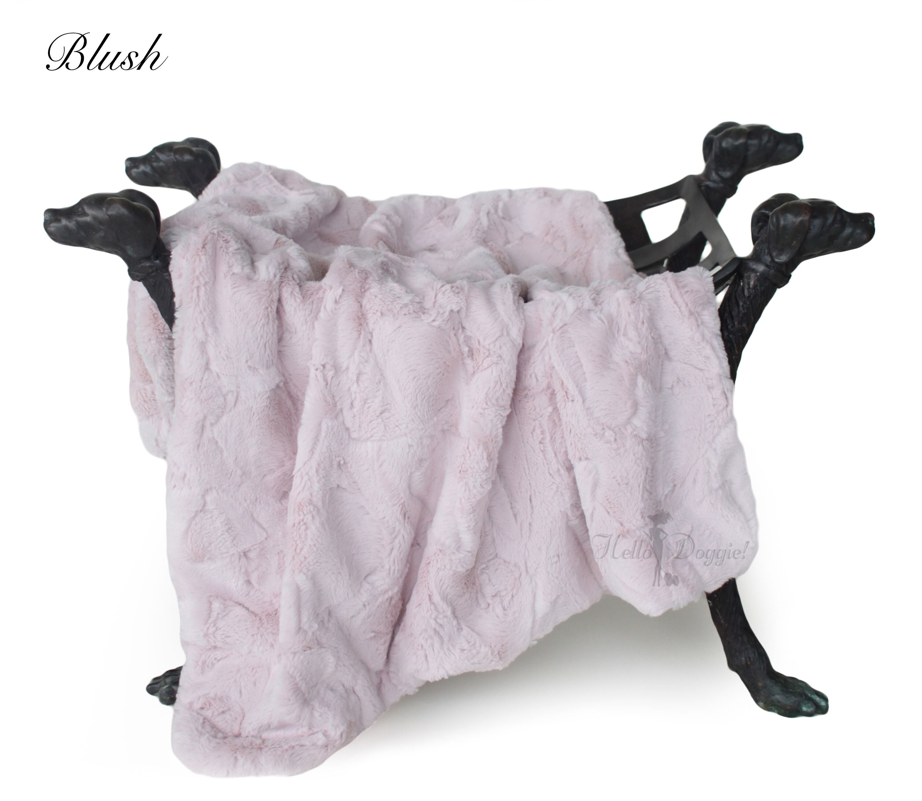 luxury dog blanket pink color