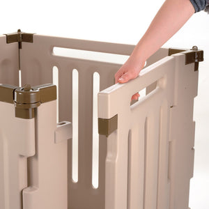 6 panel configurable dog gate and pen door