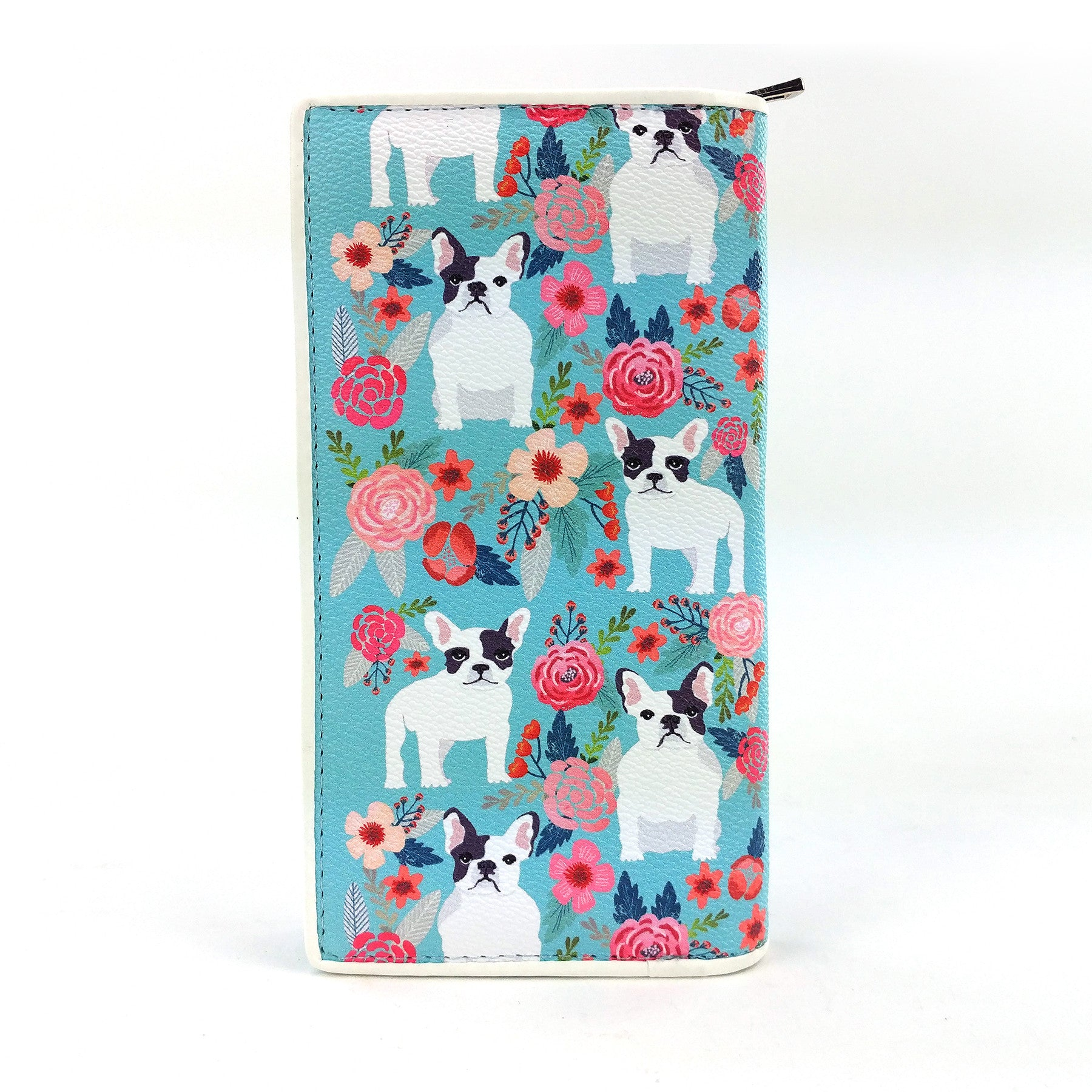 frenchie wallet turquoise