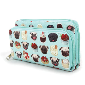 pugs and desserts wallet