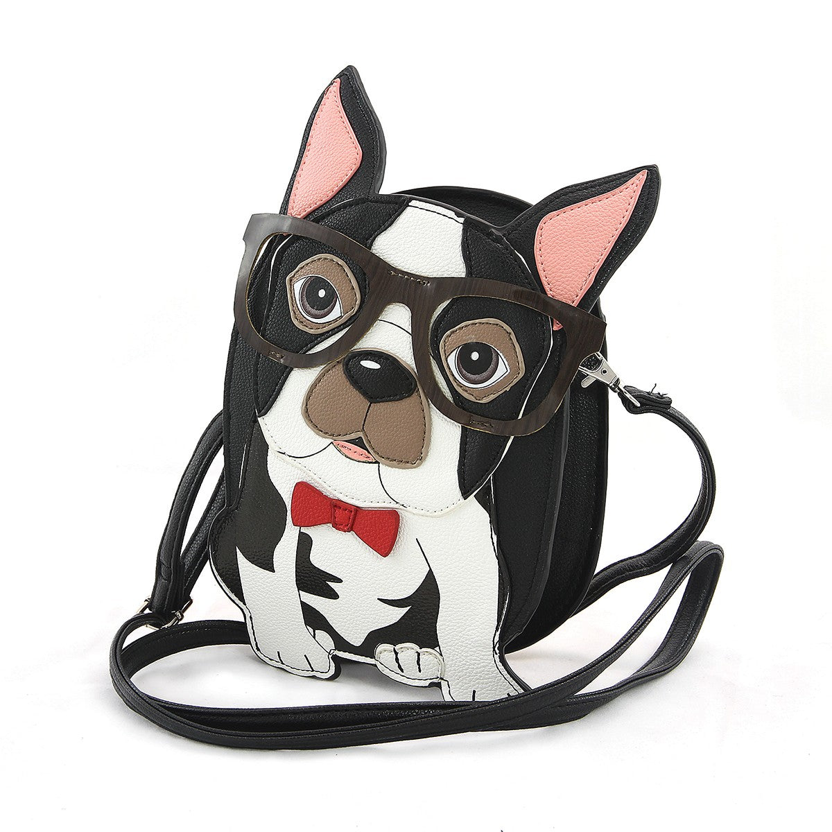 boston terrier bag with strap