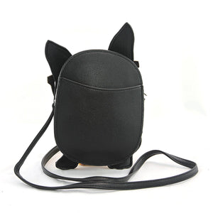 backside of boston terrier bag