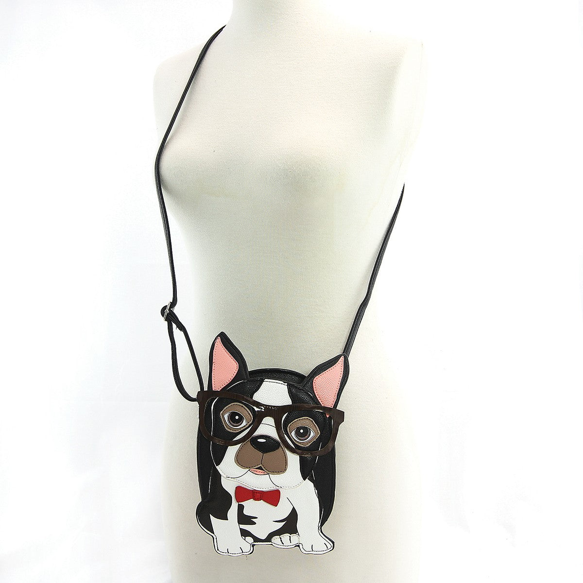 boston terrier bag with shoulder strap
