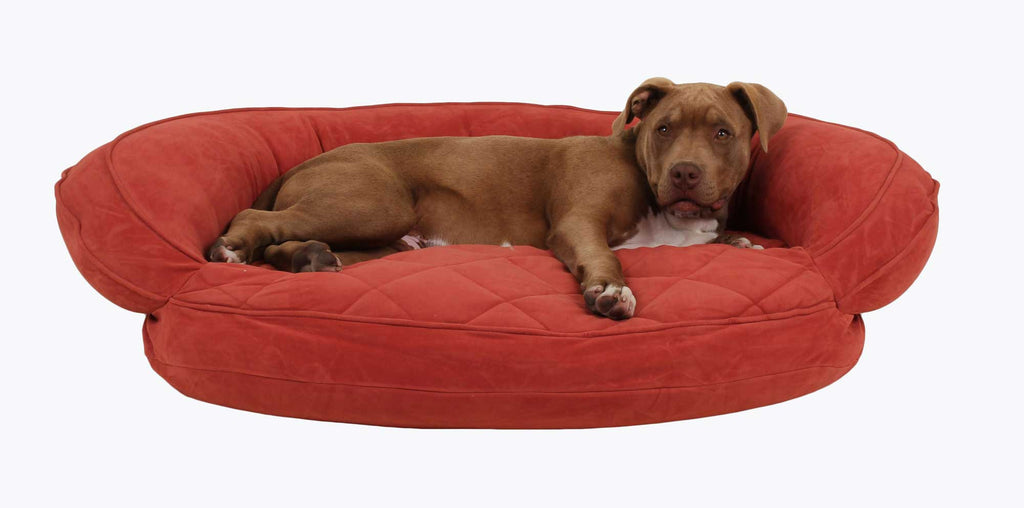 Quilted Bolster Dog Bed