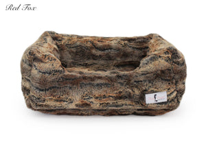 Red fox luxury dog bed for small dogs