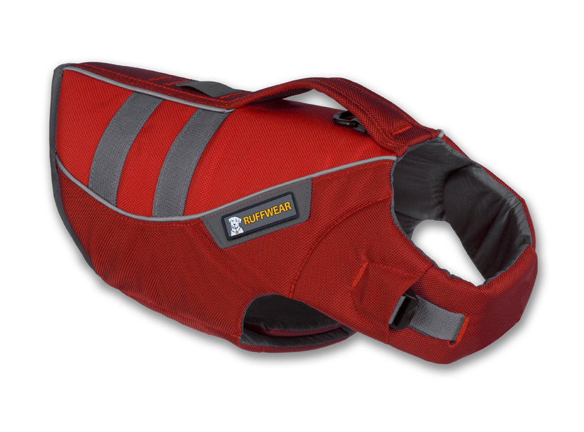 ruffwear red dog life jacket