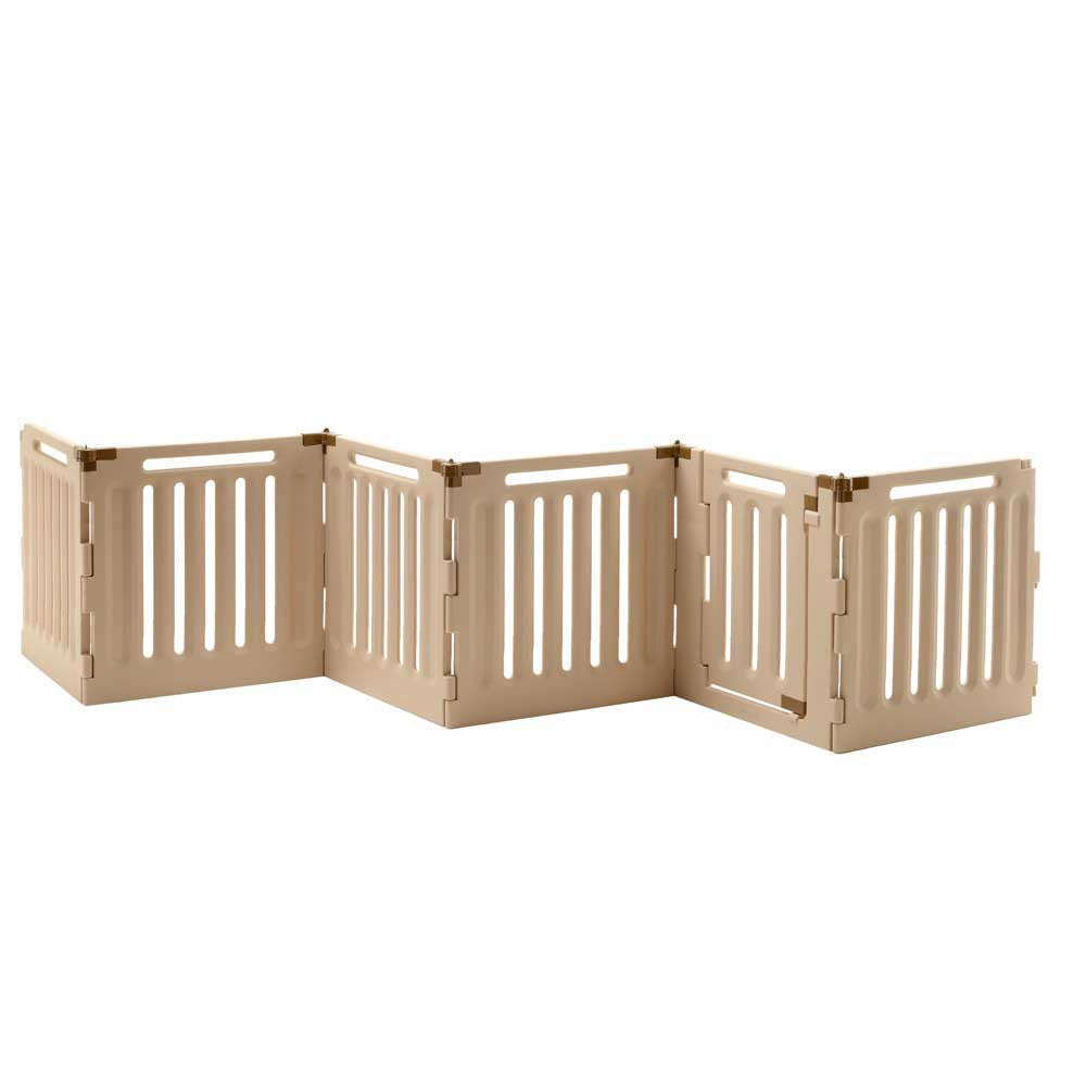 6 panel accordion expanding dog gate