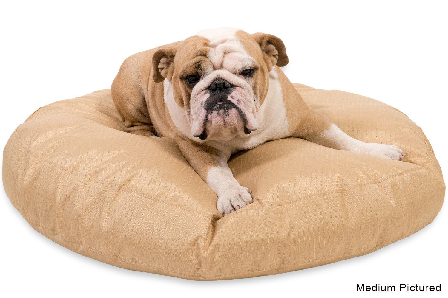 chew-resistant round dog bed