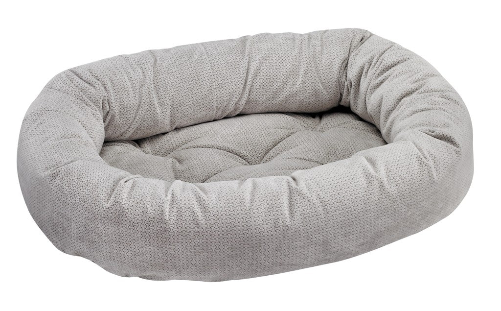 silver bones donut dog bed