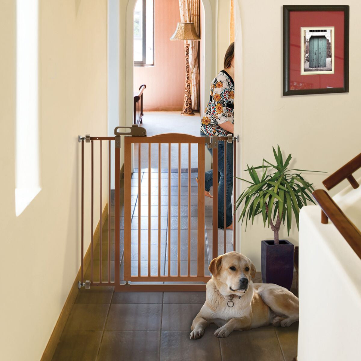 Tall One-Touch Lifestyle Pet Gate