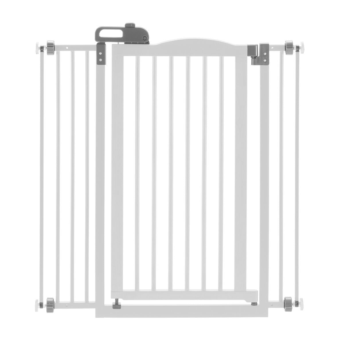 White Tall One-Touch Pet Gate