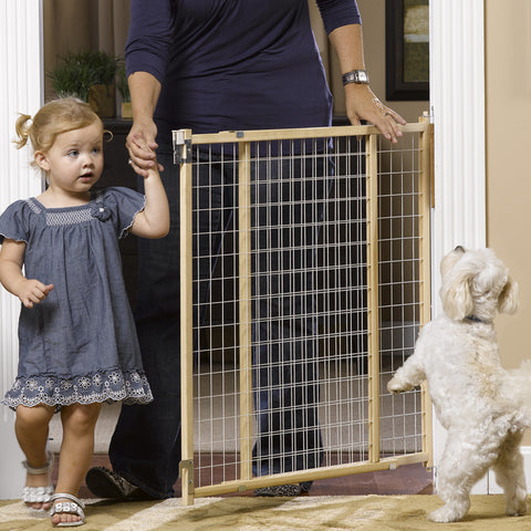 tall mesh swining dog gate