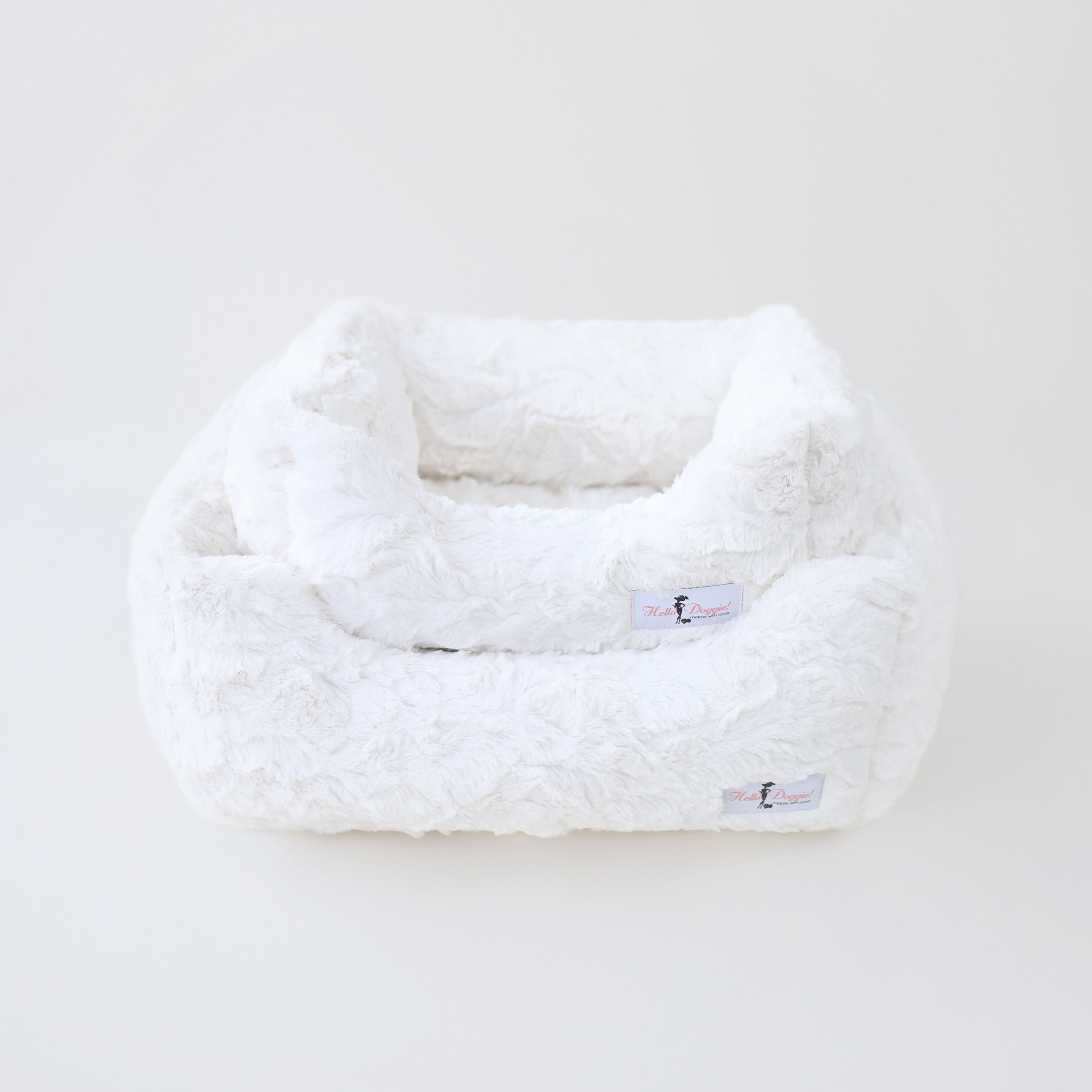 luxury soft dog bed vintage color