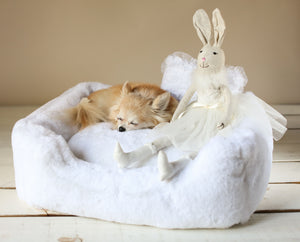 small dog breed luxury dog bed