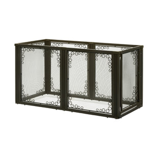 wire mesh antique bronze dog gate