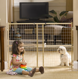 wire mesh pressure mounted dog gate