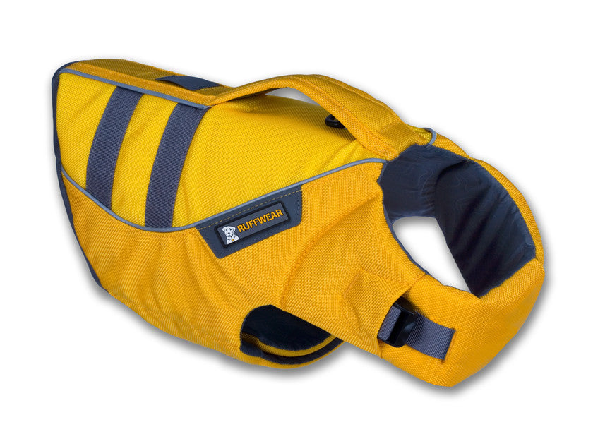 ruffwear yellow dog life jacket