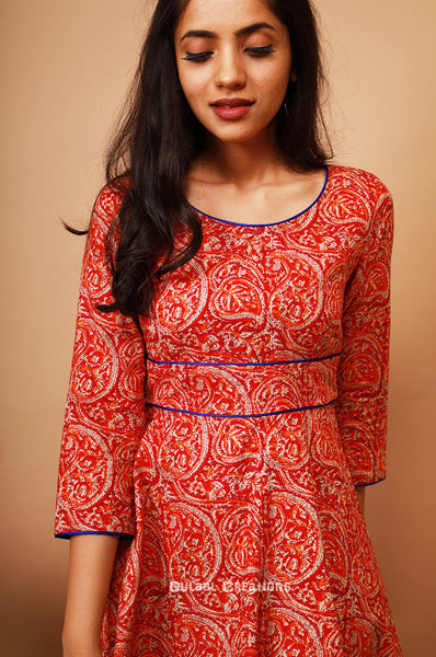 Red Paisley Dress