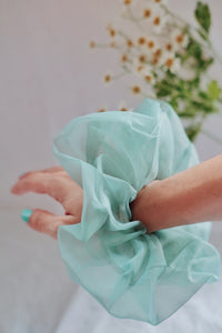 Pénélope Oversized Scrunchie (Mint Green)