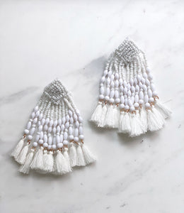 Layla Blanc Tassel Earrings
