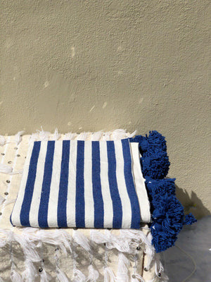 Berber Blanket in Blue Azure (Single)