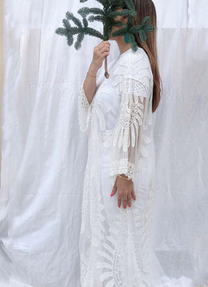 Savannah Kaftan in White